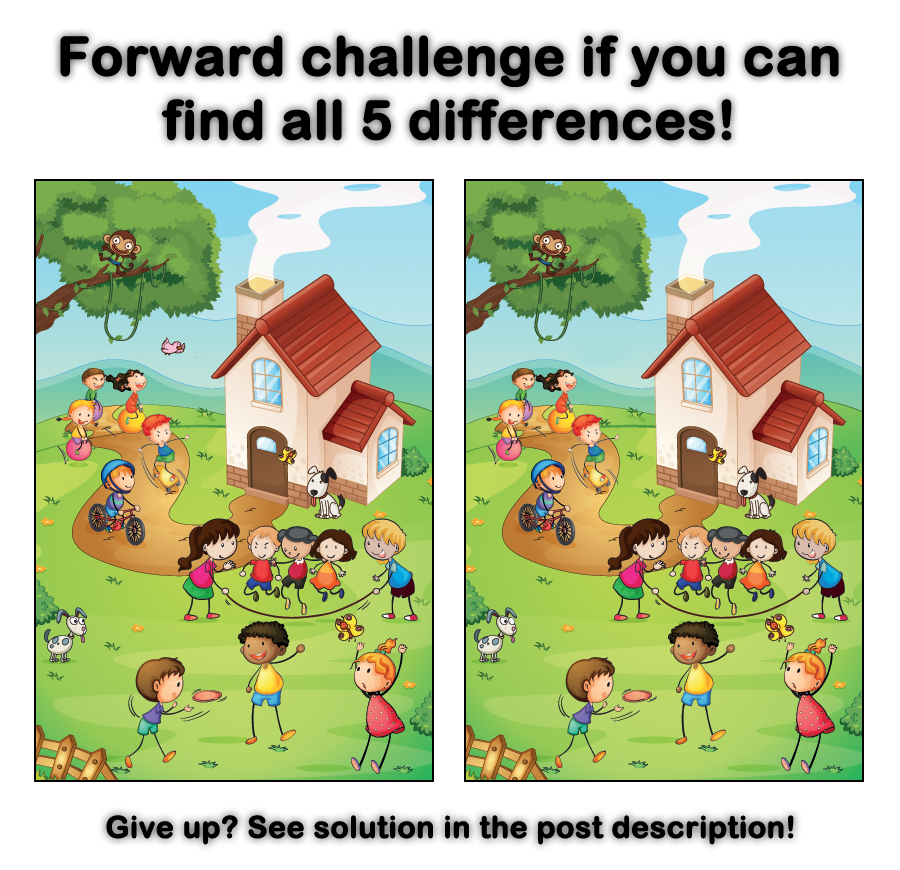 Find: Can You Find The 5 Differences?