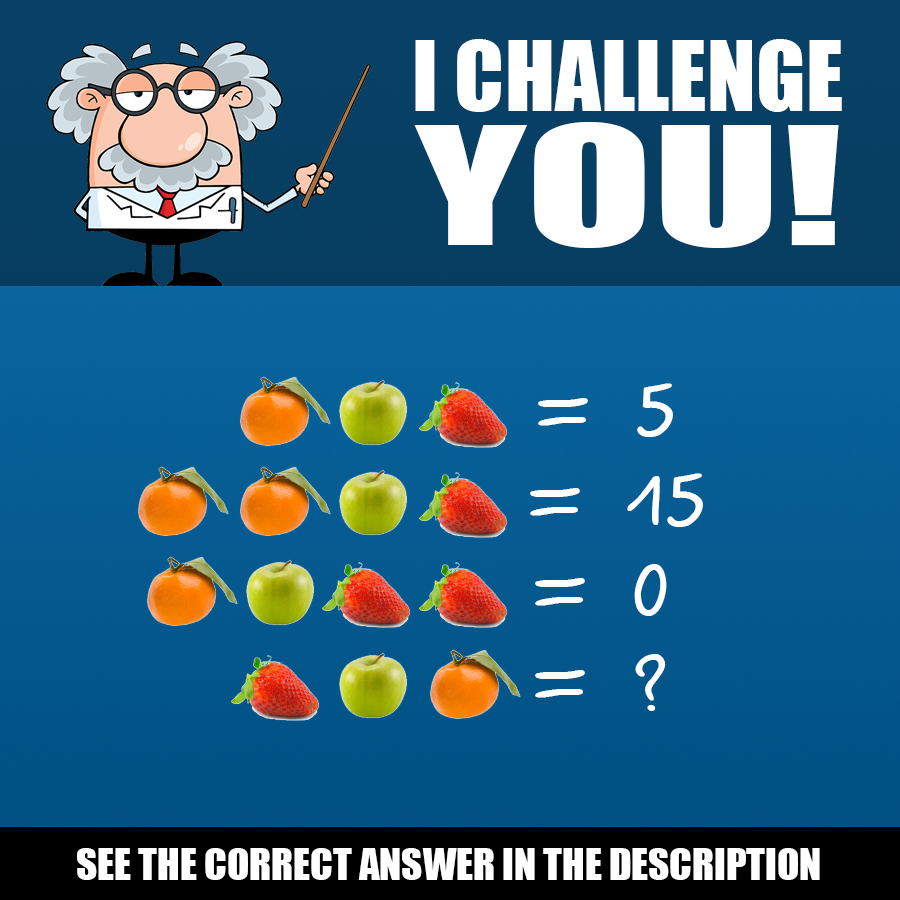 BrainDare.com - Can you figure out this fruit math problem?