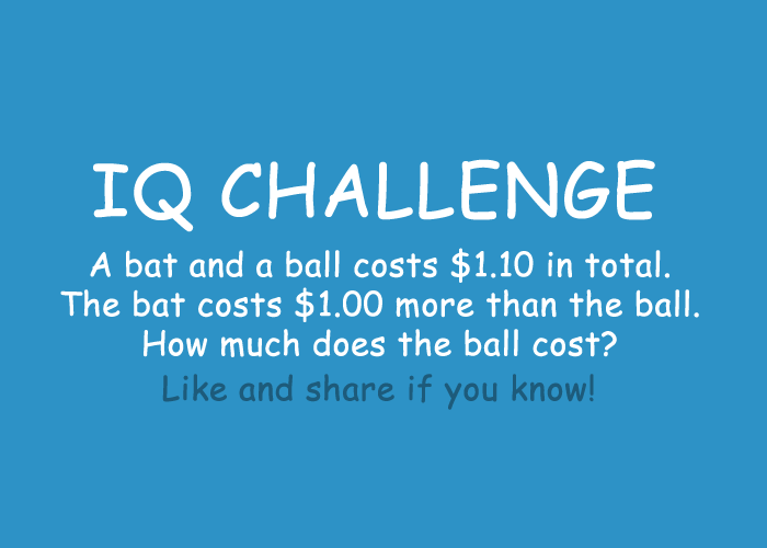 Braindare A Bat And Ball Costs 1 10 In Total The 00 More Than How Much Does Cost